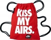 Nike GymSack - batůžek - taška na boty - červený s nápisem BZ9746-601