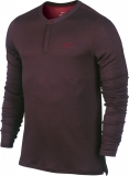 Tennis T-Shirt Nike LONGSLEEVE WOOL HENLEY 631641-635 rot