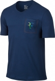 Herren Tennis T-Shirt  Nike Court Roger Federer  Pocket 803882-423