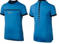 8a4f21c306a Dětské tenisové tričko Nike RAFA Challenger Crew 832329-417 modré