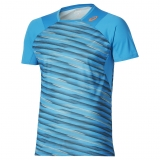 Tennis T-Shirt Asics Athlete SS Top 134643-0171 blau