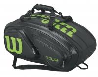 Tenisový bag Wilson TOUR V 15 černo zelený