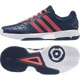 Dětská tenisová obuv Adidas Barricade Club xJ modro-růžová (BB4122)