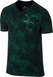 Tenisové tričko Nike Court Roger Federer 831466-010 černo-zelené