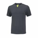 Tenisové tričko Wilson UV Henley Ebony Turbulence WRA745803 šedé