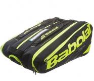 Tennistasche Babolat Pure AERO Black Fluoro Yellow RH X12  2017