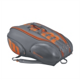 Tenisový bag Wilson Vancouver BURN 15 Pack šedý