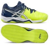 Tenisová obuv Asics Gel Resolution 6 Clay E503Y-0701 neonově žlutá modrá 6afcaed1c6