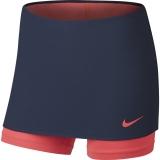 Dívčí tenisová sukně Nike Power Skin Skirt 859934-410 modro-růžová