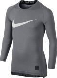 Dětské termotričko Nike Pro Combat Hypercool 726460-091 šedé
