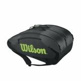 Tennistasche  Wilson Wilson TOUR Team II 12er schwarz/grün
