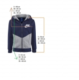 Dětská mikina Nike Training Club Warm Up Jacket 856205-451 modrá