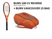 Tennispaket Wilson Burn 100 CV Reverse + Burn Vancouver 15er Tennistasche