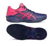 Damen Tennisschuhe Asics Gel Solution Speed 3 Clay E651N-4920 blau-pink