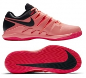 Kinder Tennisschuhe Nike Air Zoom Vapor X Clay AA8021-660 lava - black