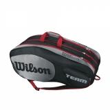 Tennistasche Wilson Team III 12 Pack schwarz-grau