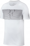 Tennis T-Shirt NikeCourt RF  889785-100 weiss