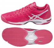 Damen Tennisshuhe Asics Gel Solution Speed 3 Clay E651N-1993 pink