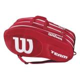 Tennistasche Wilson Team III 12 Pack rot