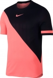 Tennis T-Shirt NIKECOURT ZONAL COOLING CHALLENGER 887513-676 schwarz / lava