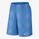 Tennis Kurzehose Nike Gladiator 10 Plaid Short 620738-406 blau