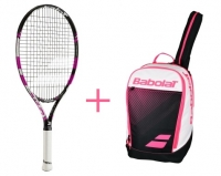 Babolat set Pure drive 25 pink + Club Classic růžový