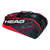 Tennistasche Head Tour Team 9R Supercombi 2018 schwarz-rot