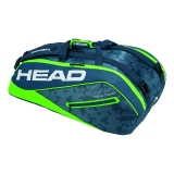 Tennistasche Head Tour Team 9R Supercombi 2018 navy-green