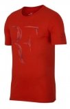 Dětské tričko NikeCourt Dry RF červené AO2958-634
