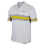 Tennis T-Shirt NikeCourt Dry Advantage Tennis Polo 887505-092 grau