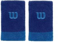 Schweißband WILSON Extra Wide  Wristband blau