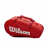 Tennistasche Wilson SUPER TOUR 3 COMP rot