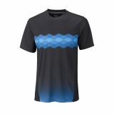 Tennis T-Shirt Wilson UW Statement Crew Ebony WRA758302
