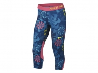 Mädchen Leggins Nike Pro Capri 938996-431 blau-pink