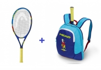 Kinder Tennisschläger Head Novak 25 + Kinderrucksack Head Novak 2018