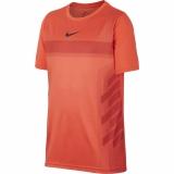 Dětské tenisové tričko Nike Court Dry Rafa Tee AO2959-809 oranžové