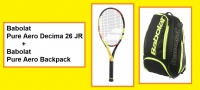 Babolat PURE AERO Decima junior 26+ Babolat Pure AERO Backpack