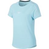 Mädchen T-Shirt Nike Court DriFit T-Shirt AR2348-449 blau