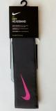 Čelenka Nike Tenis Headband šedo-růžová