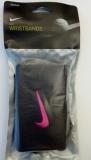 Nike Swoosh Wristbands grau mit pink