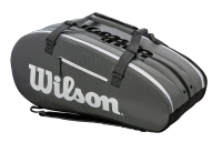 Tennistasche Wilson SUPER TOUR 3 COMP grau