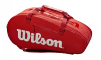 Tennistasche  Wilson SUPER TOUR 2 Comp rot