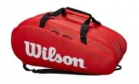 Tennistasche Wilson TOUR 3 COMP rot