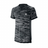 Tennis T-Shirt Wilson Competition Seamless Henley T-Shirt WRA773704