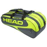 Tenisový bag Head Elite 9R Supercombi šedo-žlutý 2019