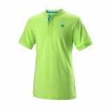 Kinder Tennis T-Shirt Wilson UVII Henley T-Shirt WRA768003 grün