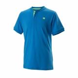 Kinder Tennis T-Shirt Wilson UVII Henley T-Shirt WRA768004 blau