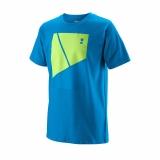 Kinder Tennis T-Shirt Wilson Tramline Tech Tee T-Shirt WRA777201 blau