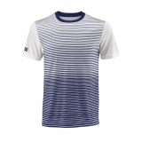 Tenisové tričko Wilson Team Striped Crew T-Shirt WRA769703 modro-bílé