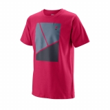 Dětské tenisové tričko Wilson Tramline Tech Tee T-Shirt WRA777203 vínové